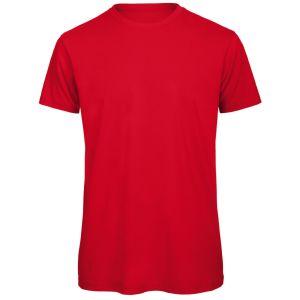 B & C Inspire Men's Organic T-Shirts In Red
