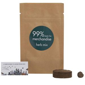 Printed Herb Mix Bio Grow Pouches are great to grow on your desk or a window sill