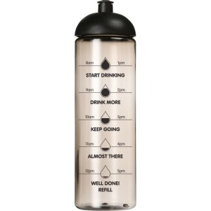 Transparent Charcoal Promotional Sports Bottles with Drinking Gauge and your Company Logo