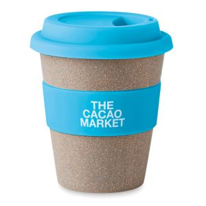 Reusable travel cup in blue
