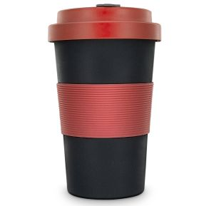 Eco Friendly Coffee Cups In Red & Black