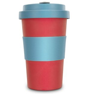 Reusable Coffee Cups In Scarlet & Teal