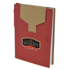 Red Promotional Notepads With Sticky Notes