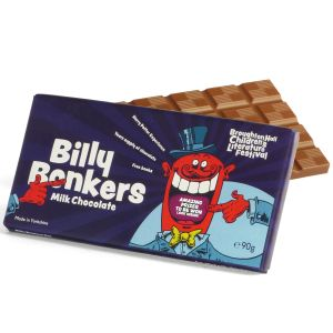 Full colour promotional chocolate bars