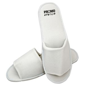 White Peep Toe Slippers