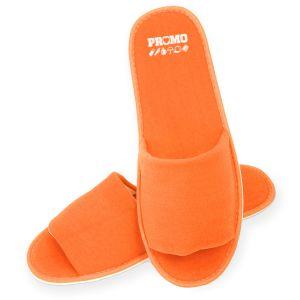 Orange Printed Slippers