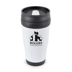 White Branded Travel Mug