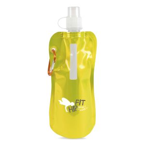 Metallic Yellow Promotional Folding Water Bottle