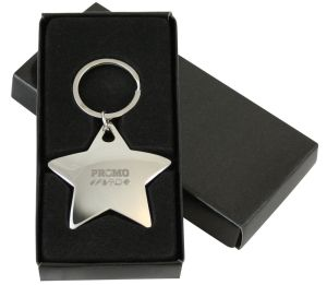 Star-Shaped Promotional Keyring