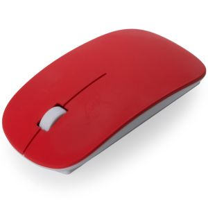 Branded Wireless Mouse In Red