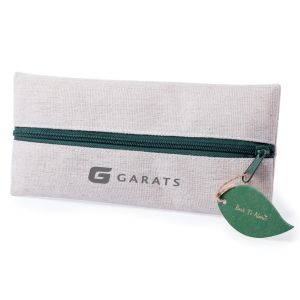 Jute and Cotton Printed Pencil Case