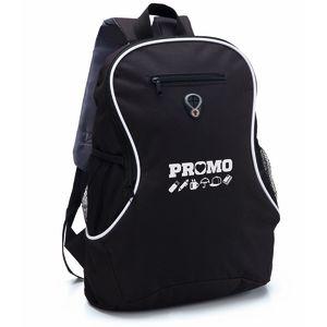 Printed Backpack In Black