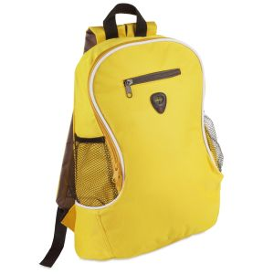 Branded Backpack In Yellow