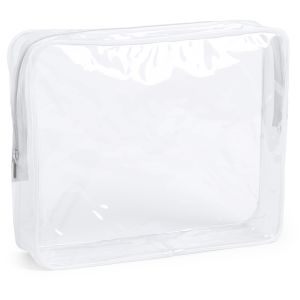 Clear Promotional Bag With White Zip