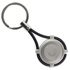 Promotional Metal Keyring in Black