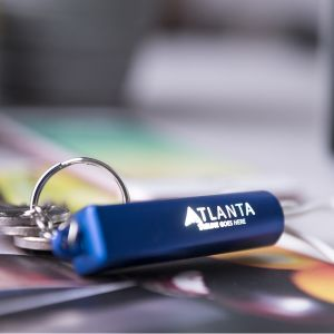 Blue Light Up Promotional USB Adaptor Keyrings