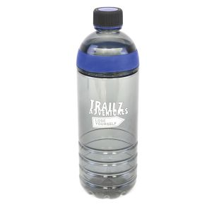Printed Sports Bottles with Blue Trim