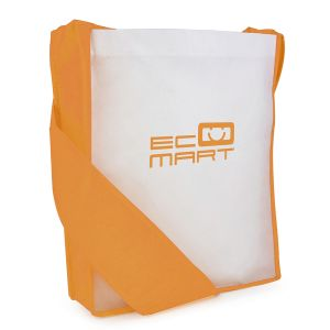 Promotional Messenger Bags with Orange Trim