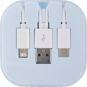 White Printed USB Charging Cable Sets