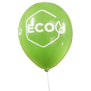 Green Promotional Balloons Printed With Corporate Logo
