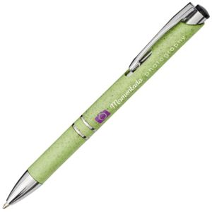 Promotional Wheat Straw Pen In Green