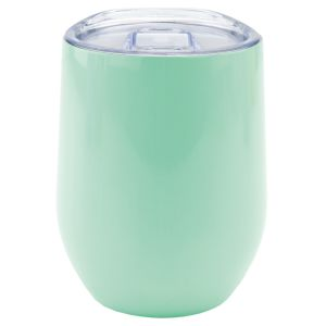 Branded Stainless Steel Cup in Gloss Light Mint