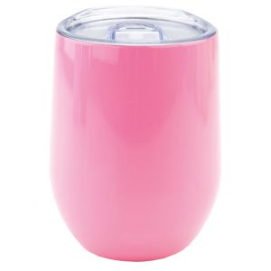 Reusable Stainless Steel Cup in Gloss Pink