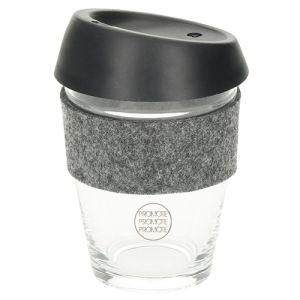Promotional 300ml Glass Travel Mug with Sleeve