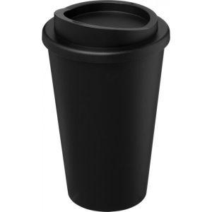 Black Branded Travel Mug