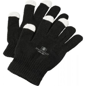 Branded Touch Screen Gloves in Black