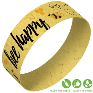 Eco-Friendly Paper Wristband in Mustard Yellow
