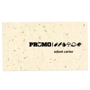 Printed eco-friendly business cards in cream