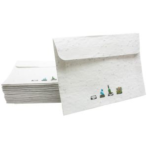 Eco Seed Paper Envelopes In White