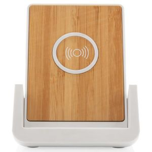 Promotional wireless charger made from bamboo