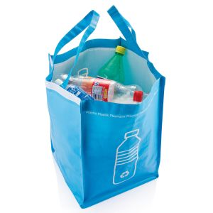 Blue promotional recycle waste bag