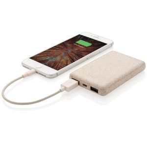 Branded Power Banks Made From Wheat Straw