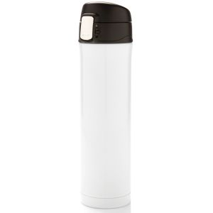 Easy Lock Vacuum Flasks In White/Black