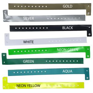 Printed Wristbands In A Range Of Colours