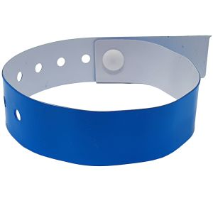 Vinyl Printed Wristbands In Neon Blue
