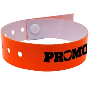Promotional Wristbands In Neon Orange