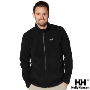 Printed fleece jacket in black