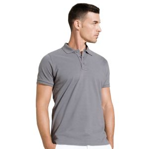 Kariban Organic Cotton Polo Shirts In Storm Grey