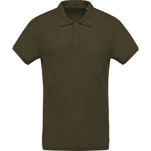 Kariban Organic Cotton Polo Shirts In Mossy Green