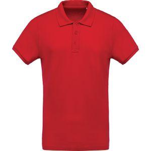 Kariban Organic Cotton Polo Shirts In Red
