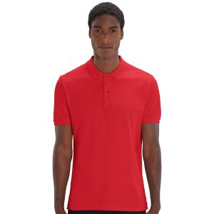100% organic cotton promotional polo shirt in red