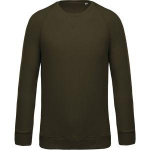Organic Cotton Branded Sweatshirts In Mossy Green
