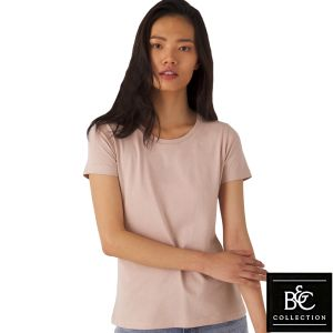 B & C Inspire Ladies' Organic T-Shirts in Millennial Pink