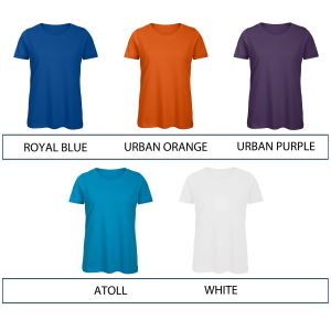 Colours available for B & C Inspire Ladies' Organic T-Shirts
