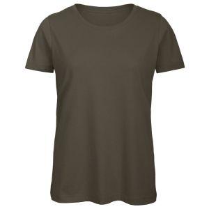 B & C Inspire Ladies' Organic Promotional T-Shirts in Khaki