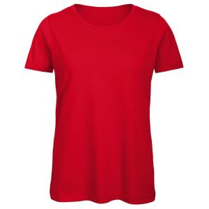 B & C Inspire Ladies' Organic Promotional T-Shirts in Red